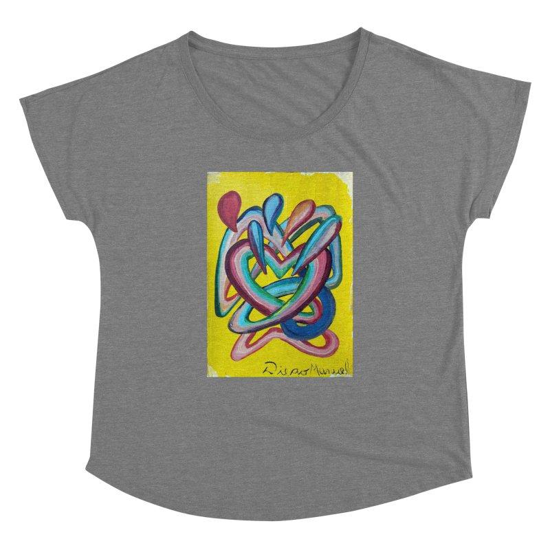 Formas en el espacio 4 Women's Scoop Neck by Diego Manuel Rodriguez Artist Shop