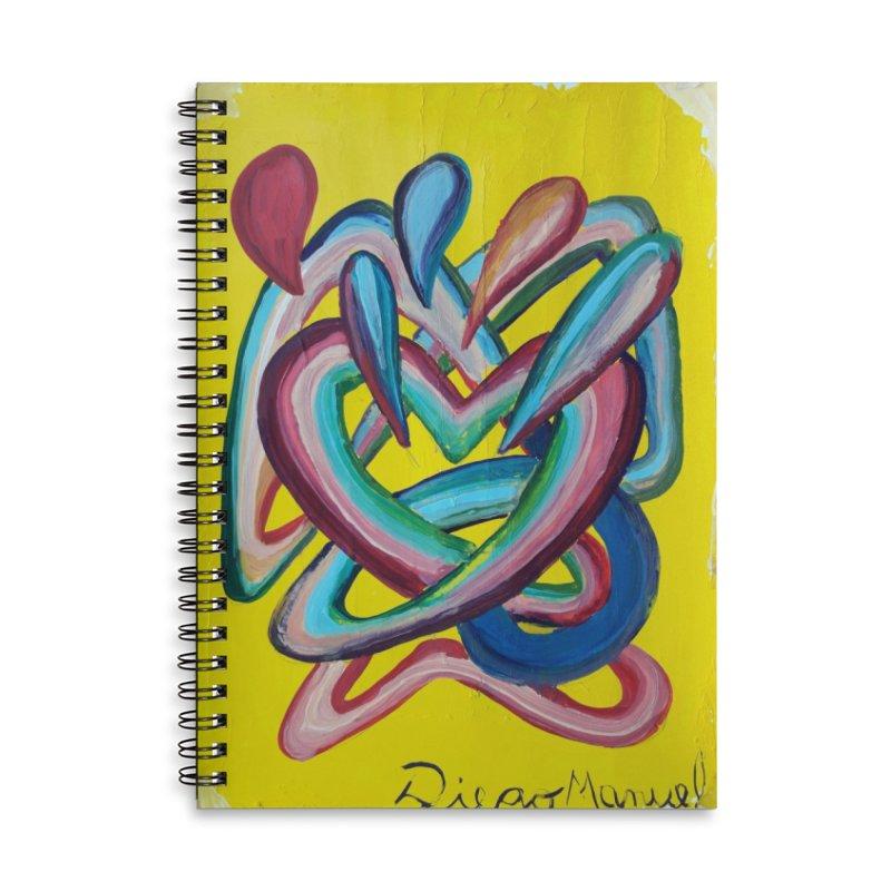 Formas en el espacio 4 Accessories Lined Spiral Notebook by diegomanuel's Artist Shop