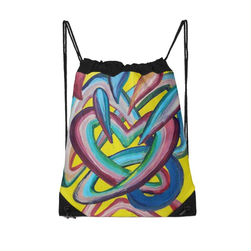 Formas en el espacio 4 Accessories Drawstring Bag Bag by diegomanuel's Artist Shop