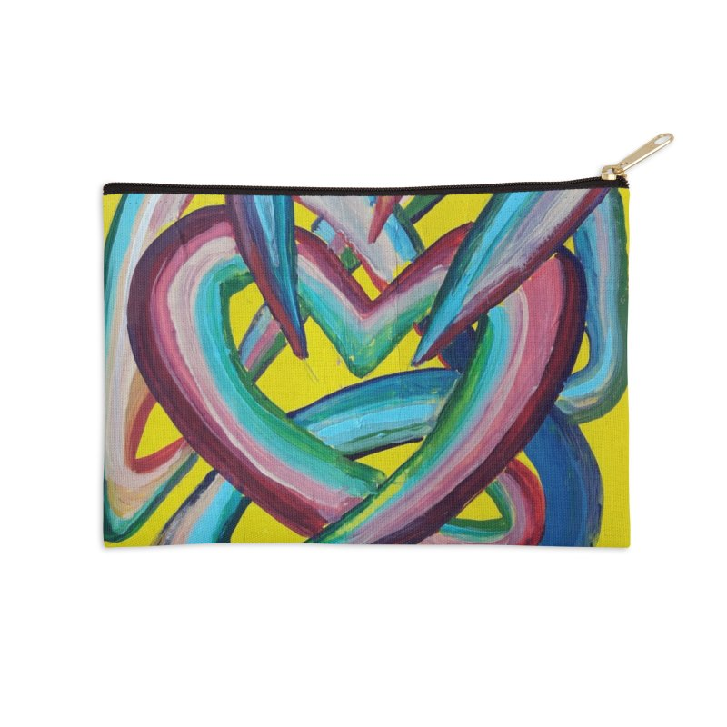 Formas en el espacio 4 Accessories Zip Pouch by Diego Manuel Rodriguez Artist Shop