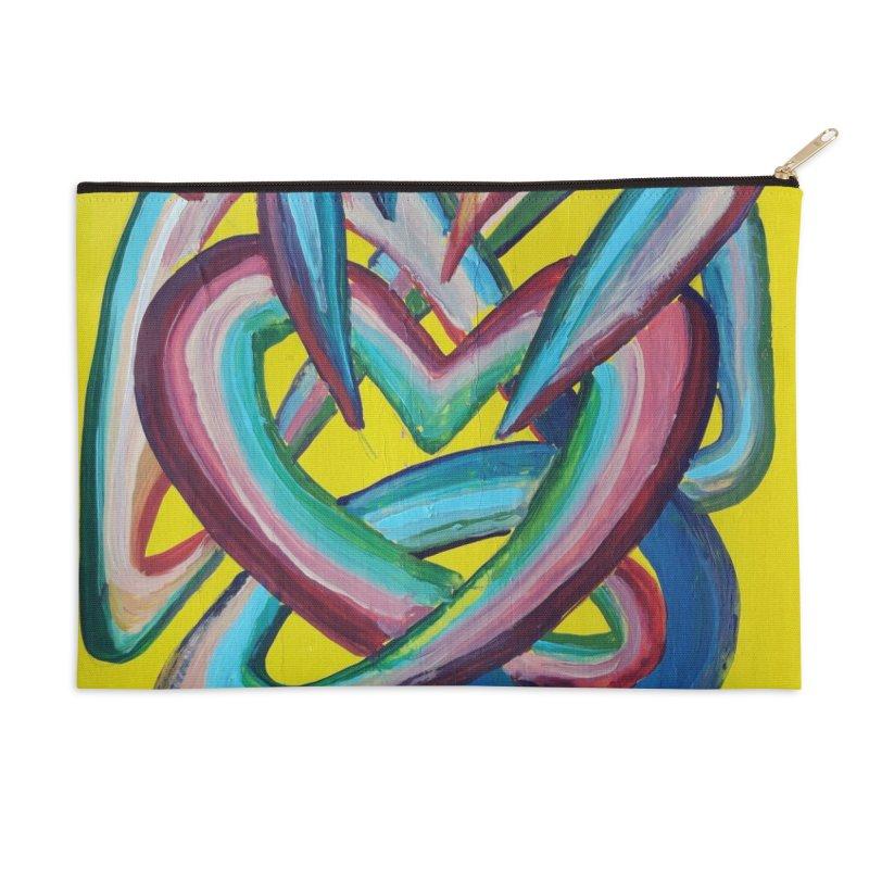 Formas en el espacio 4 Accessories Zip Pouch by Diego Manuel Rodriguez Artist Shop