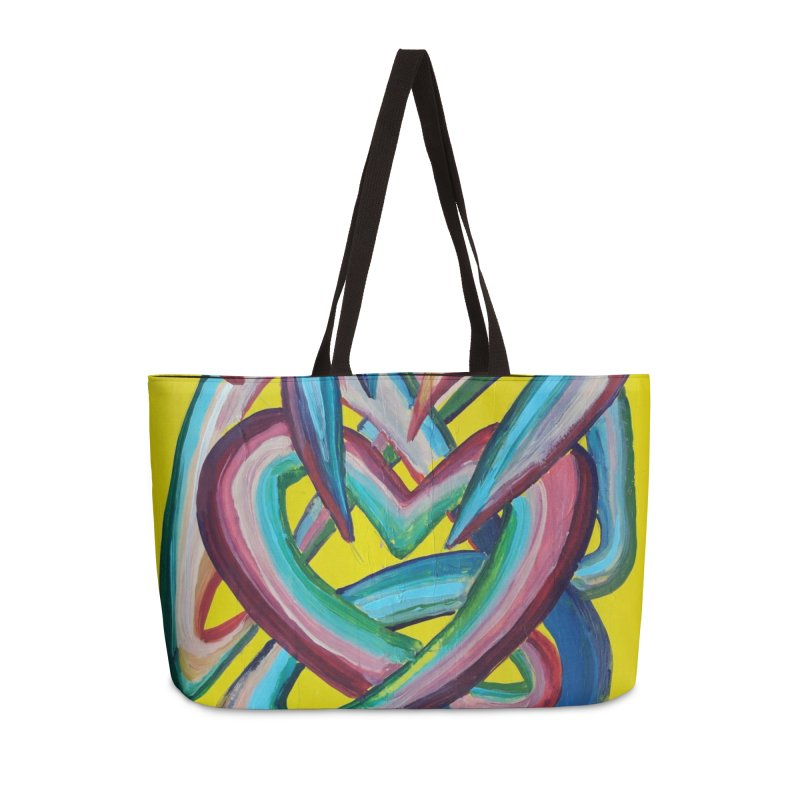 Formas en el espacio 4 Accessories Weekender Bag Bag by diegomanuel's Artist Shop