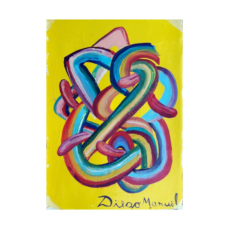 Formas en el espacio 3 Home Stretched Canvas by diegomanuel's Artist Shop