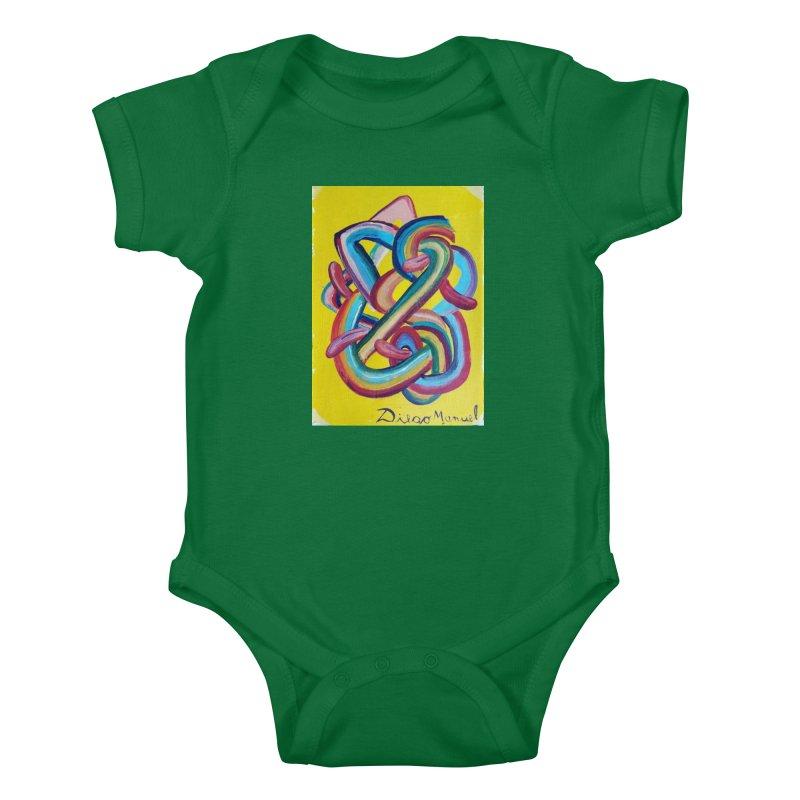 Formas en el espacio 3 Kids Baby Bodysuit by Diego Manuel Rodriguez Artist Shop