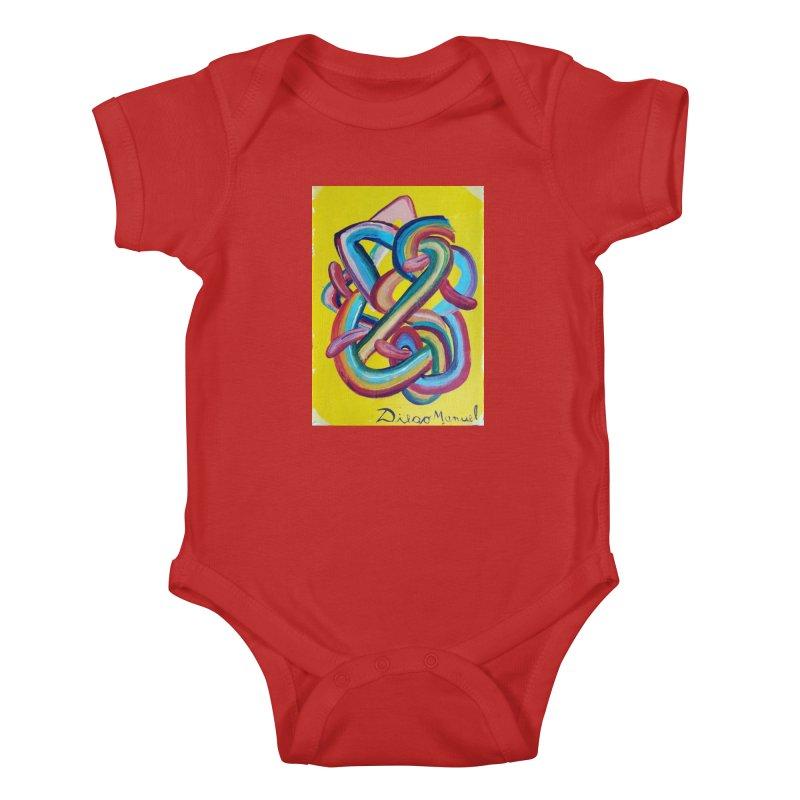 Formas en el espacio 3 Kids Baby Bodysuit by diegomanuel's Artist Shop