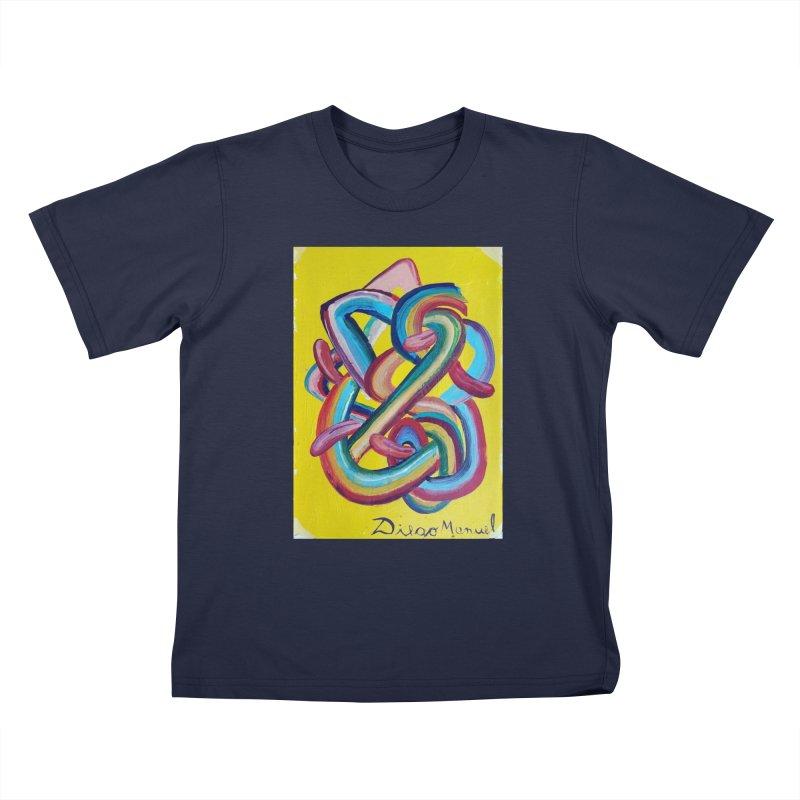 Formas en el espacio 3 Kids T-Shirt by Diego Manuel Rodriguez Artist Shop