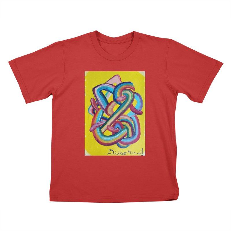 Formas en el espacio 3 Kids T-Shirt by diegomanuel's Artist Shop