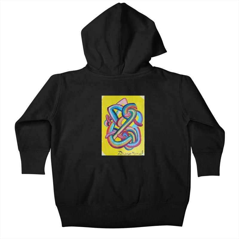 Formas en el espacio 3 Kids Baby Zip-Up Hoody by diegomanuel's Artist Shop