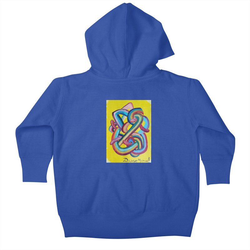 Formas en el espacio 3 Kids Baby Zip-Up Hoody by diegomanuel's Artist Shop