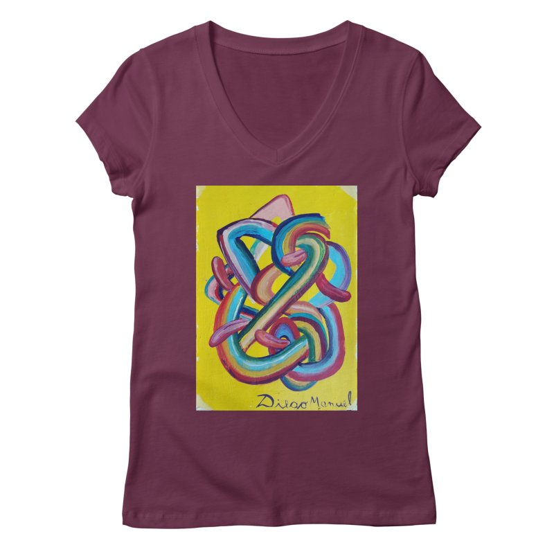 Formas en el espacio 3 Women's V-Neck by diegomanuel's Artist Shop