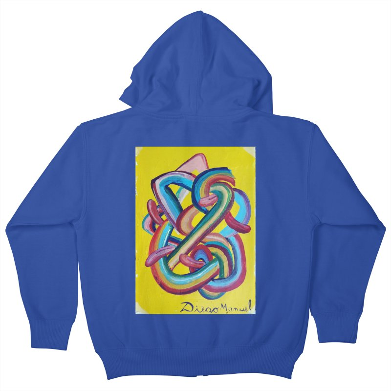 Formas en el espacio 3 Kids Zip-Up Hoody by diegomanuel's Artist Shop
