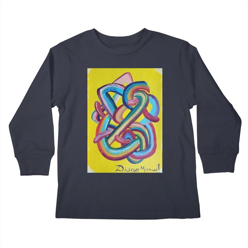Formas en el espacio 3 Kids Longsleeve T-Shirt by diegomanuel's Artist Shop