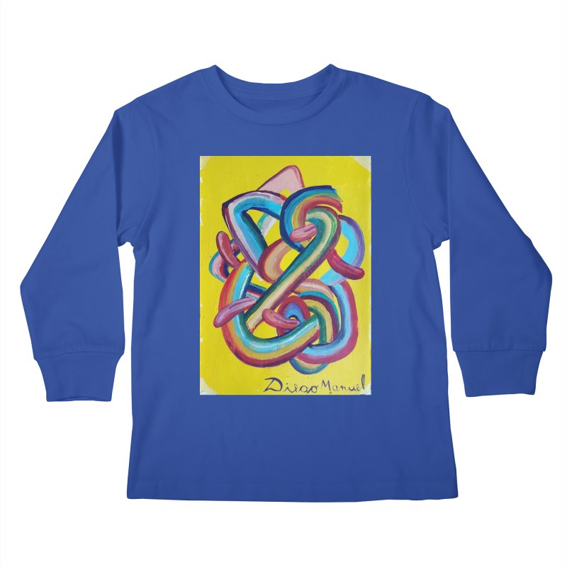 Formas en el espacio 3 Kids Longsleeve T-Shirt by Diego Manuel Rodriguez Artist Shop