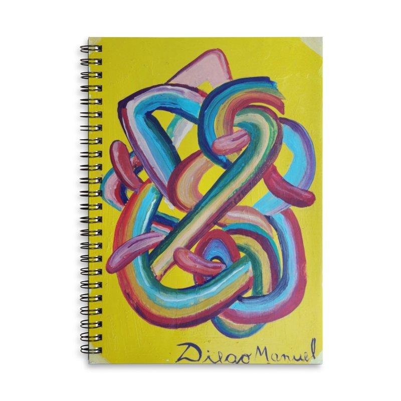 Formas en el espacio 3 Accessories Lined Spiral Notebook by diegomanuel's Artist Shop