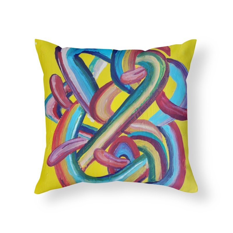 Formas en el espacio 3 Home Throw Pillow by diegomanuel's Artist Shop