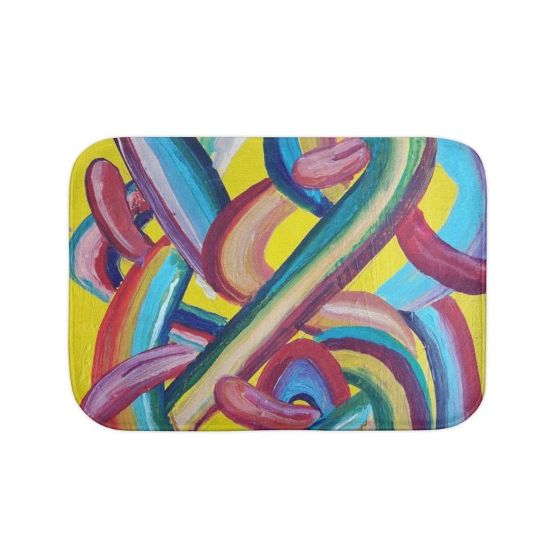 Formas en el espacio 3 Home Bath Mat by diegomanuel's Artist Shop