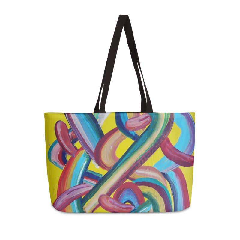 Formas en el espacio 3 Accessories Weekender Bag Bag by diegomanuel's Artist Shop