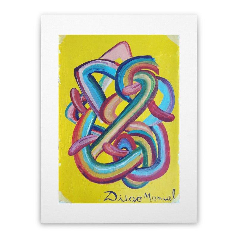 Formas en el espacio 3 Home Stretched Canvas by Diego Manuel Rodriguez Artist Shop
