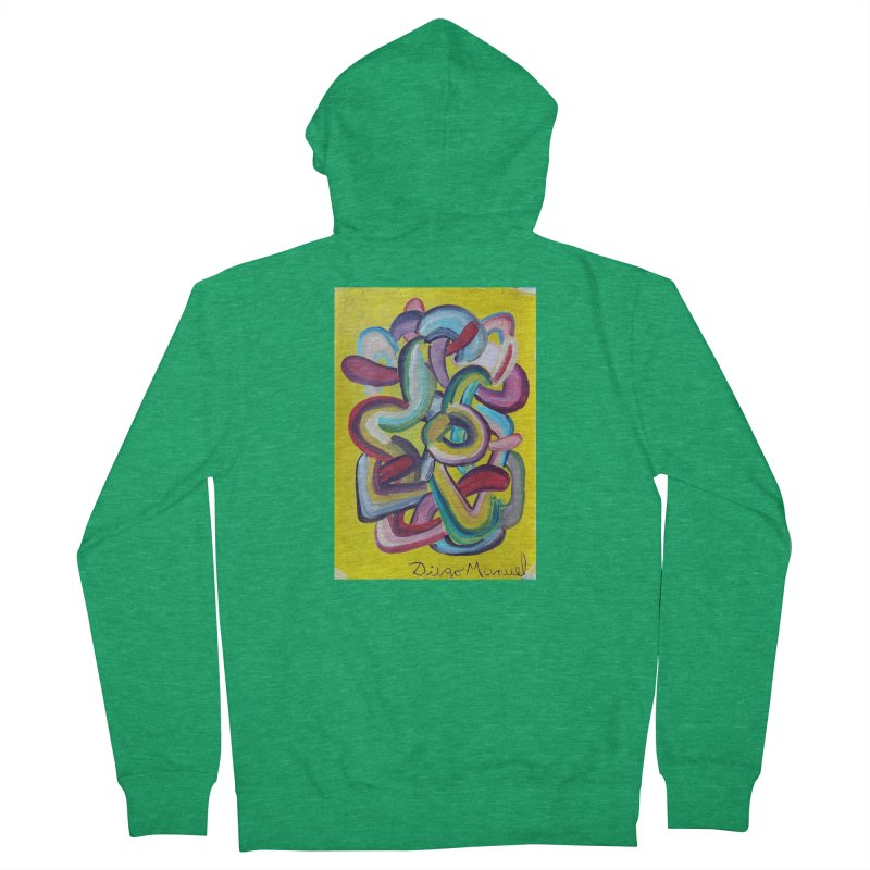 Formas en el espacio 2 Men's Zip-Up Hoody by Diego Manuel Rodriguez Artist Shop
