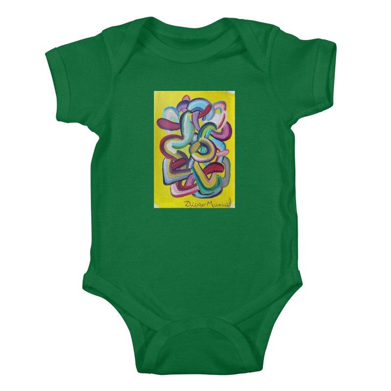 Formas en el espacio 2 Kids Baby Bodysuit by Diego Manuel Rodriguez Artist Shop