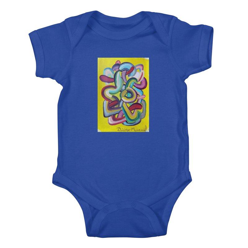 Formas en el espacio 2 Kids Baby Bodysuit by diegomanuel's Artist Shop