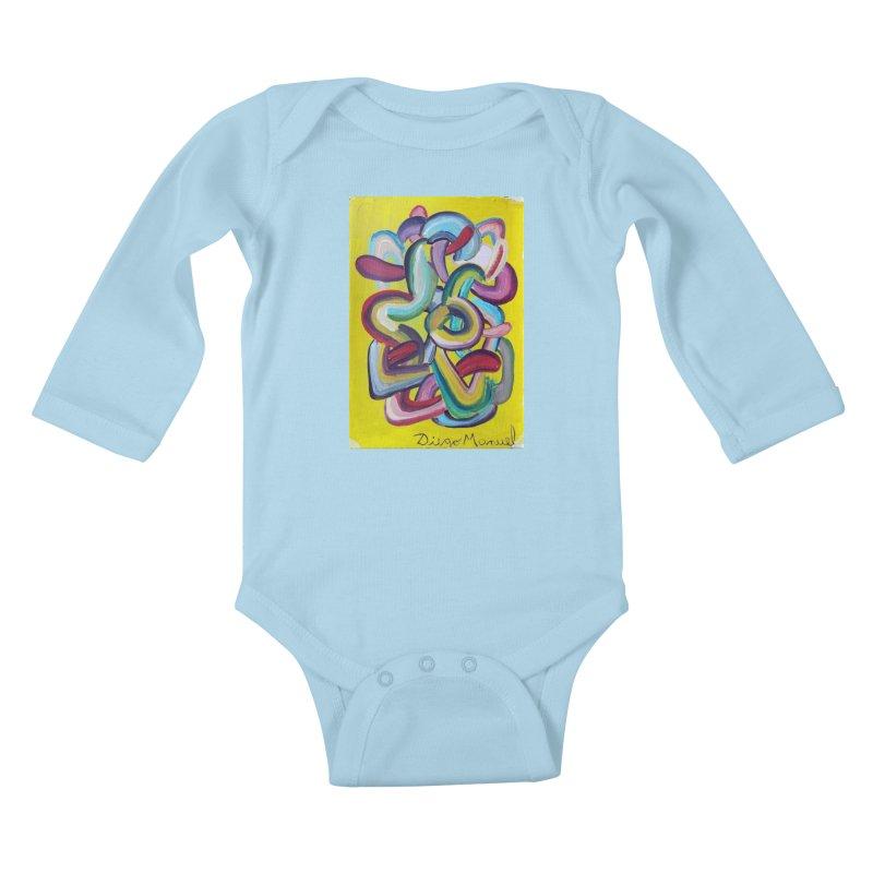 Formas en el espacio 2 Kids Baby Longsleeve Bodysuit by diegomanuel's Artist Shop