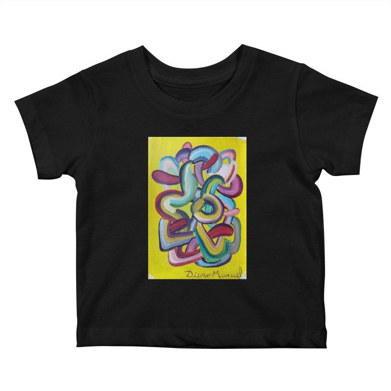 Formas en el espacio 2 Kids Baby T-Shirt by Diego Manuel Rodriguez Artist Shop