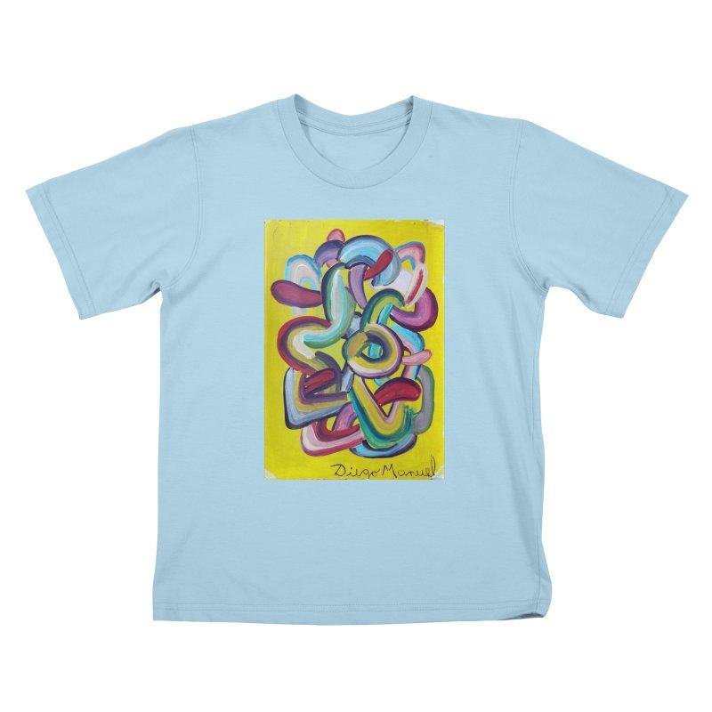 Formas en el espacio 2 Kids T-Shirt by Diego Manuel Rodriguez Artist Shop