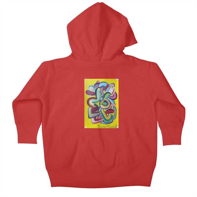 Formas en el espacio 2 Kids Baby Zip-Up Hoody by diegomanuel's Artist Shop
