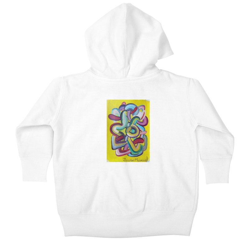 Formas en el espacio 2 Kids Baby Zip-Up Hoody by diegomanuel's Artist Shop
