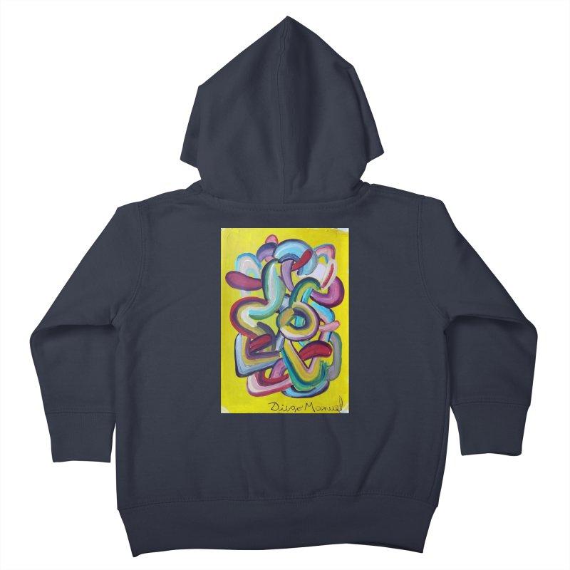Formas en el espacio 2 Kids Toddler Zip-Up Hoody by diegomanuel's Artist Shop