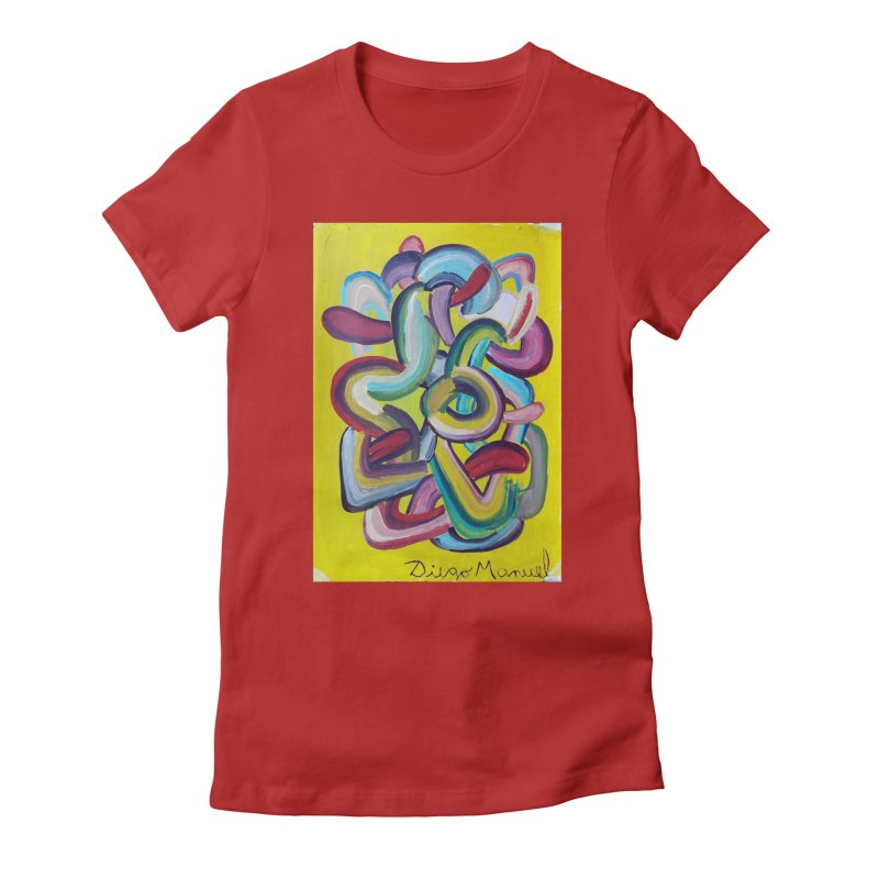 Formas en el espacio 2 Women's Fitted T-Shirt by diegomanuel's Artist Shop