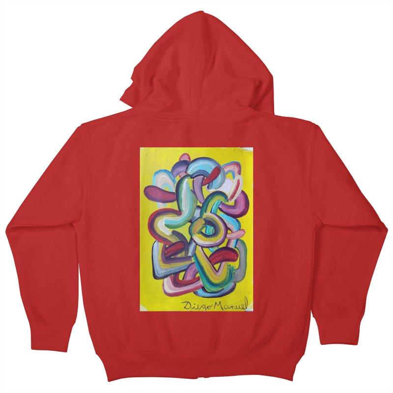 Formas en el espacio 2 Kids Zip-Up Hoody by diegomanuel's Artist Shop