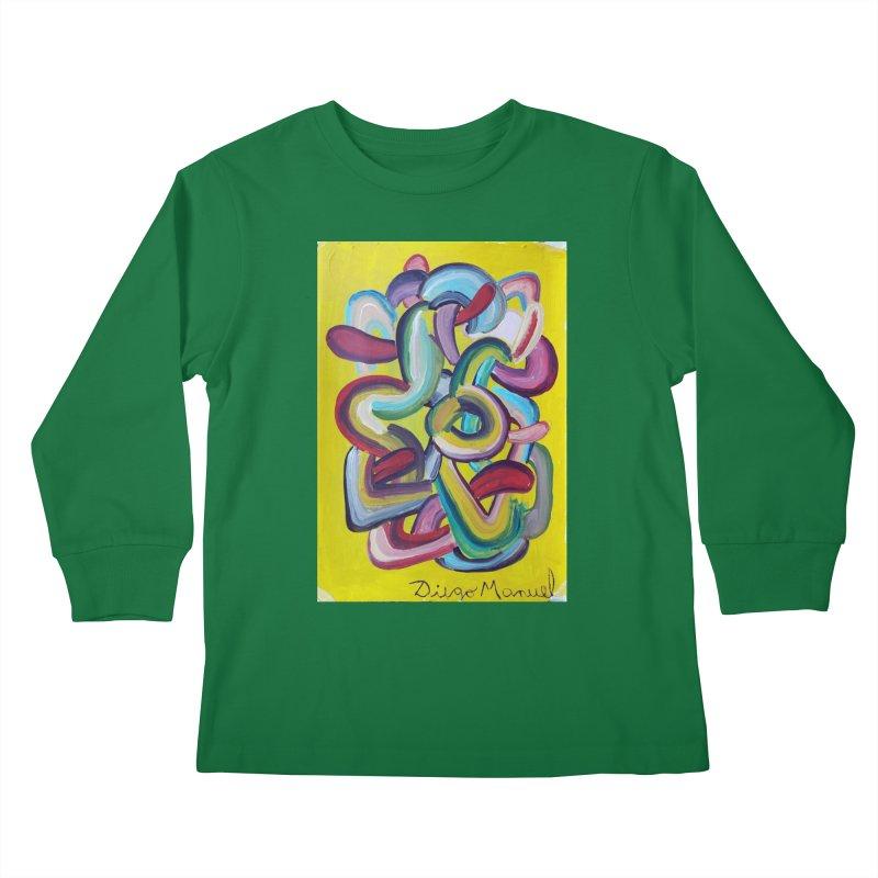 Formas en el espacio 2 Kids Longsleeve T-Shirt by diegomanuel's Artist Shop