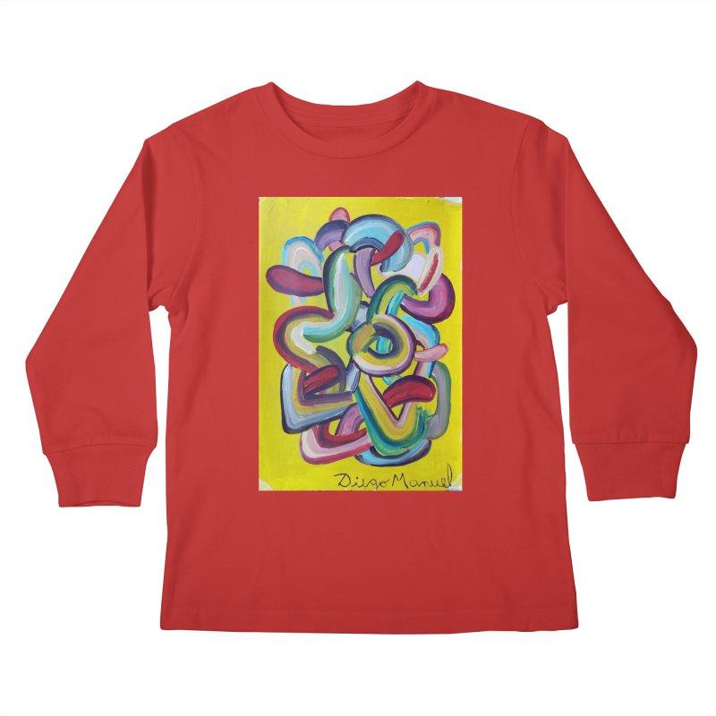 Formas en el espacio 2 Kids Longsleeve T-Shirt by Diego Manuel Rodriguez Artist Shop