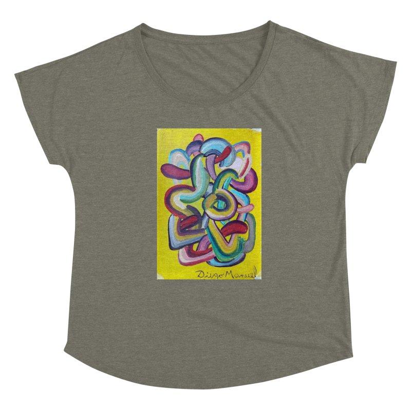 Formas en el espacio 2 Women's Scoop Neck by Diego Manuel Rodriguez Artist Shop