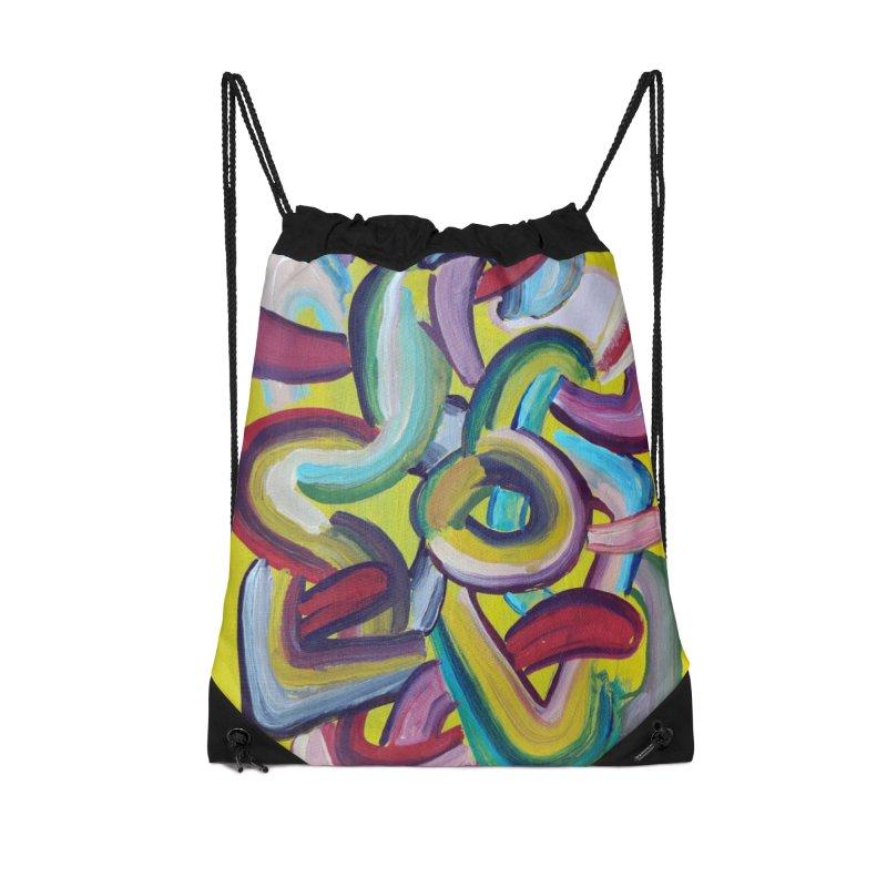 Formas en el espacio 2 Accessories Drawstring Bag Bag by diegomanuel's Artist Shop