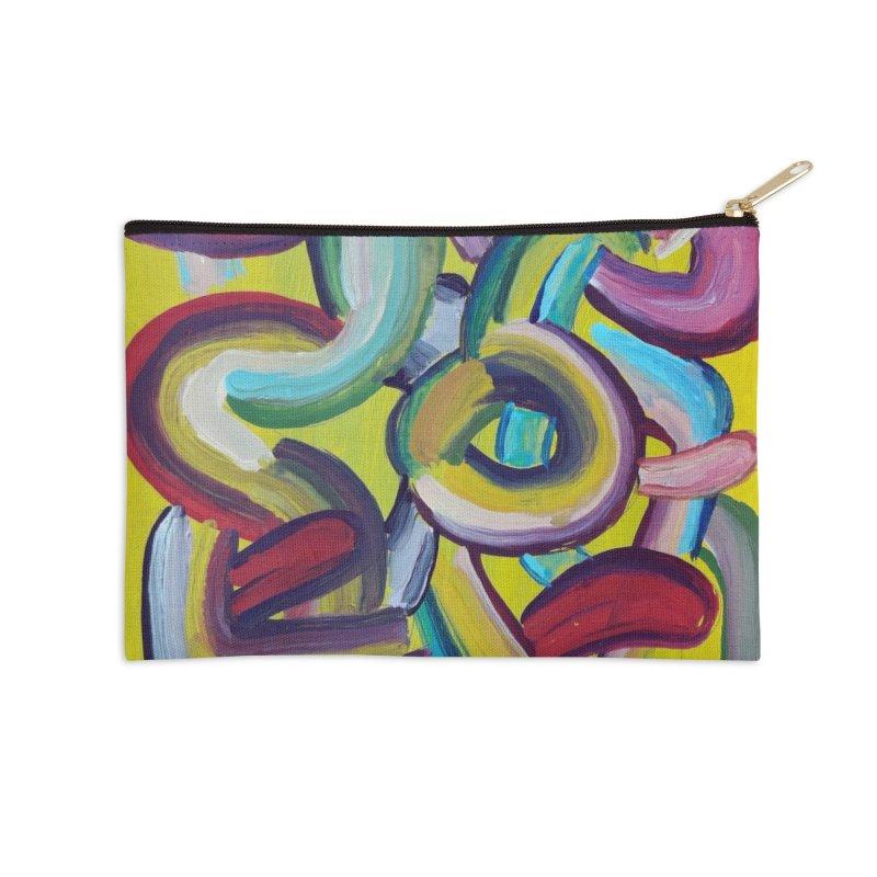 Formas en el espacio 2 Accessories Zip Pouch by Diego Manuel Rodriguez Artist Shop