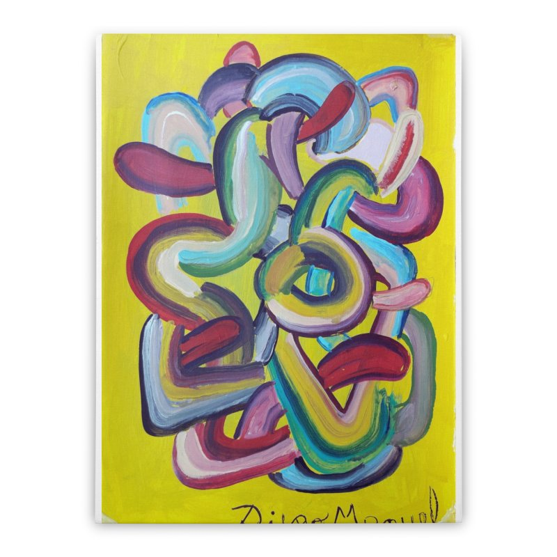 Formas en el espacio 2 Home Stretched Canvas by Diego Manuel Rodriguez Artist Shop