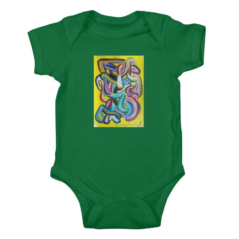 Formas en el espacio 1 Kids Baby Bodysuit by Diego Manuel Rodriguez Artist Shop