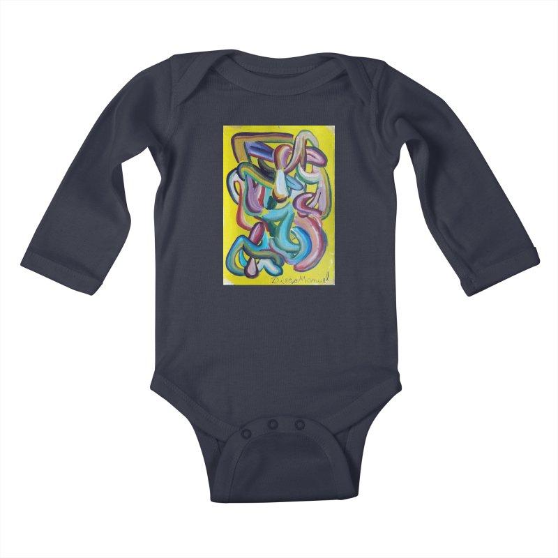 Formas en el espacio 1 Kids Baby Longsleeve Bodysuit by Diego Manuel Rodriguez Artist Shop