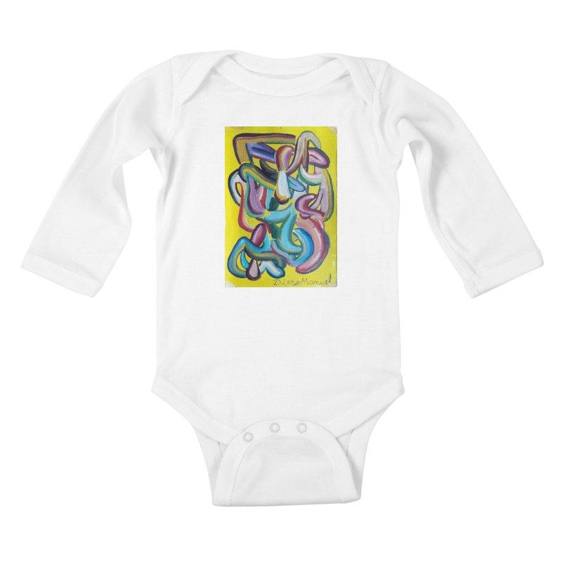 Formas en el espacio 1 Kids Baby Longsleeve Bodysuit by diegomanuel's Artist Shop