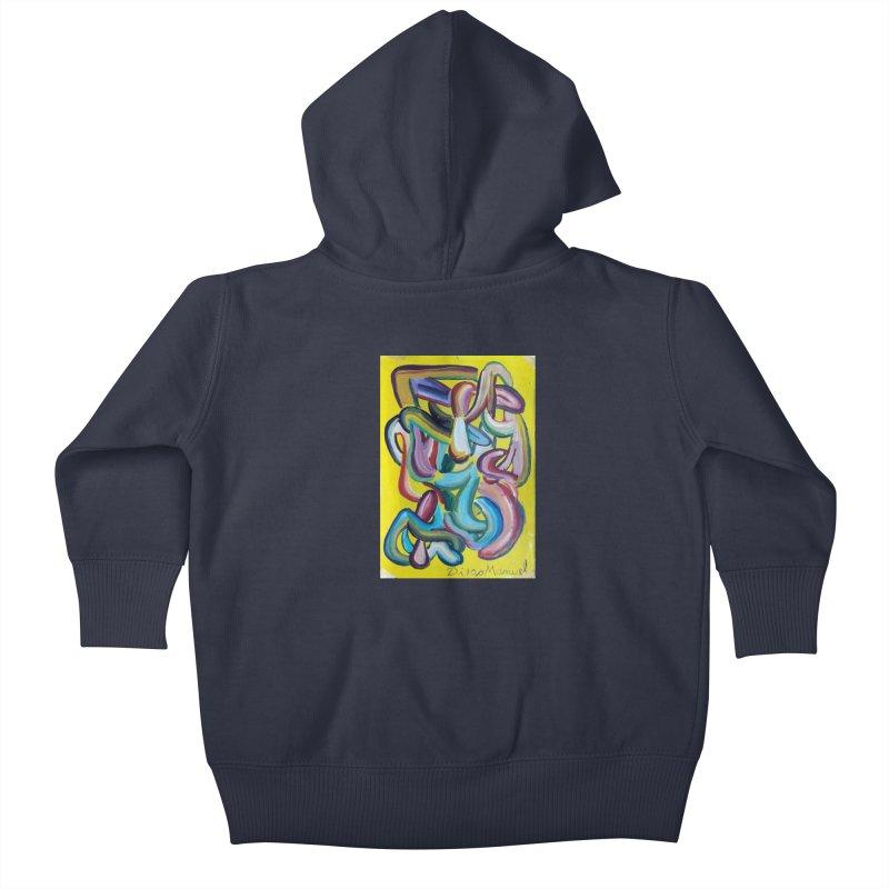 Formas en el espacio 1 Kids Baby Zip-Up Hoody by diegomanuel's Artist Shop