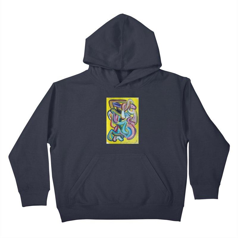 Formas en el espacio 1 Kids Pullover Hoody by diegomanuel's Artist Shop