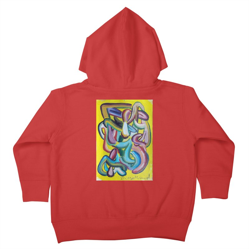 Formas en el espacio 1 Kids Toddler Zip-Up Hoody by Diego Manuel Rodriguez Artist Shop