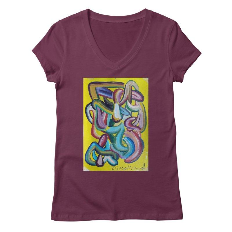 Formas en el espacio 1 Women's V-Neck by diegomanuel's Artist Shop