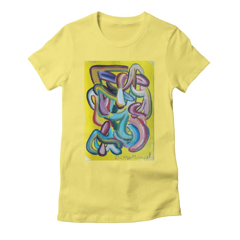 Formas en el espacio 1 Women's Fitted T-Shirt by diegomanuel's Artist Shop