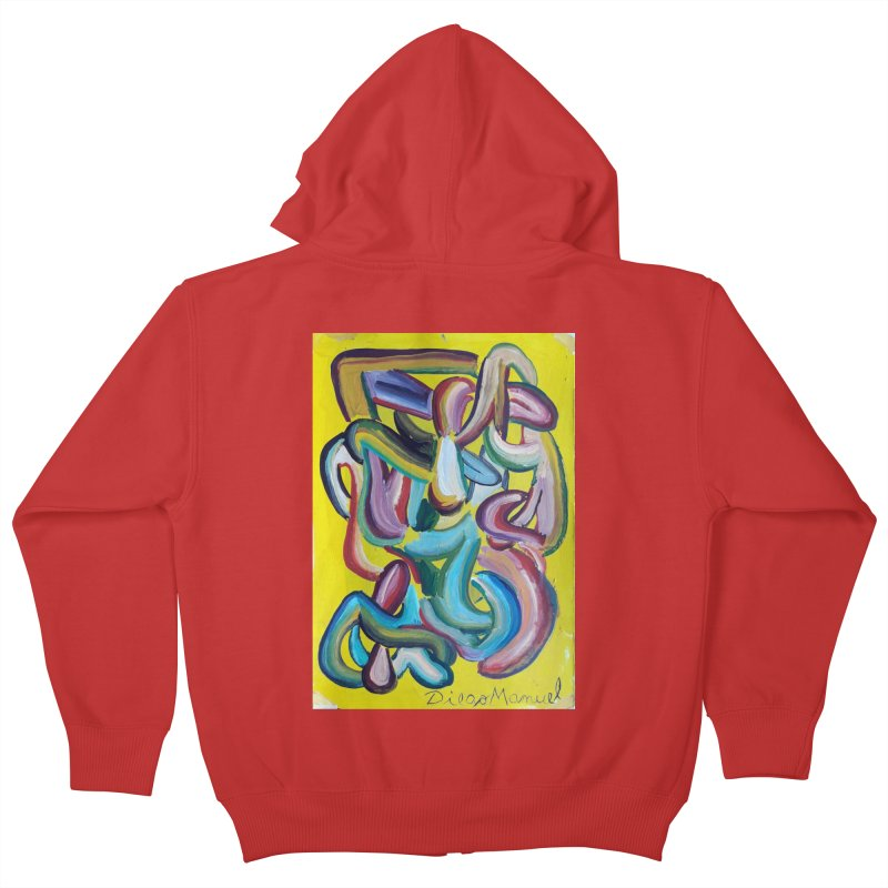 Formas en el espacio 1 Kids Zip-Up Hoody by diegomanuel's Artist Shop