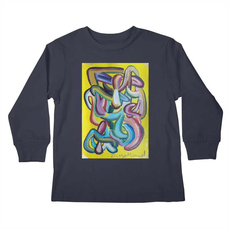 Formas en el espacio 1 Kids Longsleeve T-Shirt by Diego Manuel Rodriguez Artist Shop