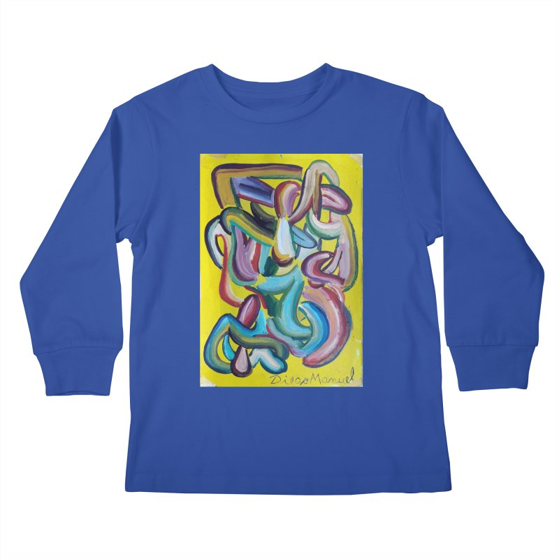 Formas en el espacio 1 Kids Longsleeve T-Shirt by diegomanuel's Artist Shop
